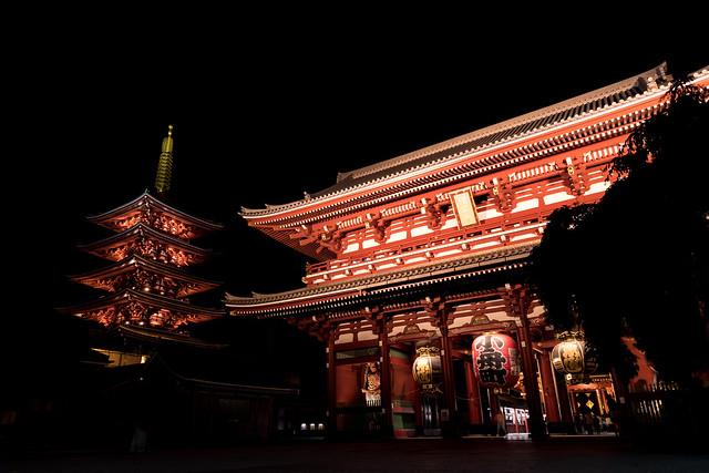 Sensoji Temple(夜の浅草寺), RICOH PENTAX K-S2, HD PENTAX-DA 16-85mm F3.5-5.6 ED DC WR