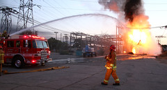 Inferno At Northridge Utility Yard Leads To Power Outage