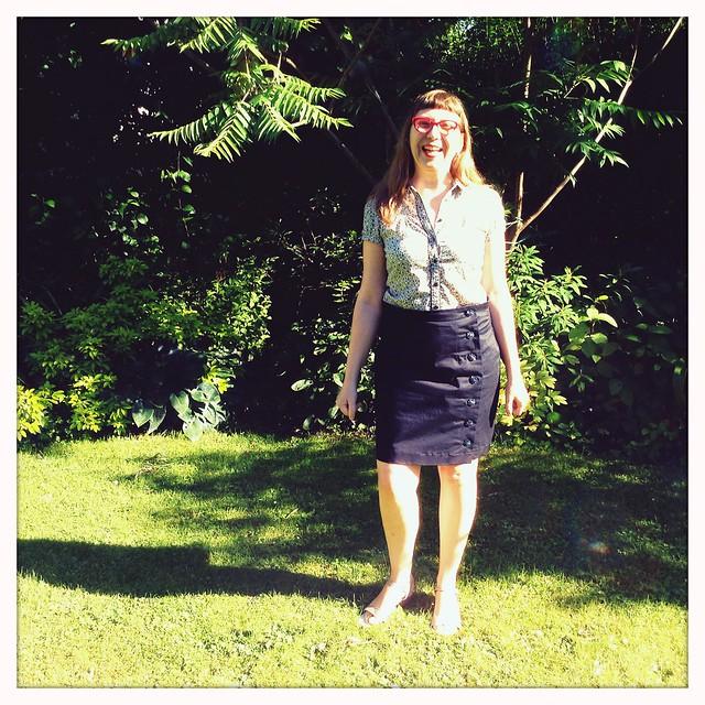The black Arielle skirt