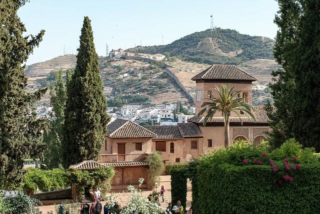 Looking towards the Palacio del Partal from its gardens