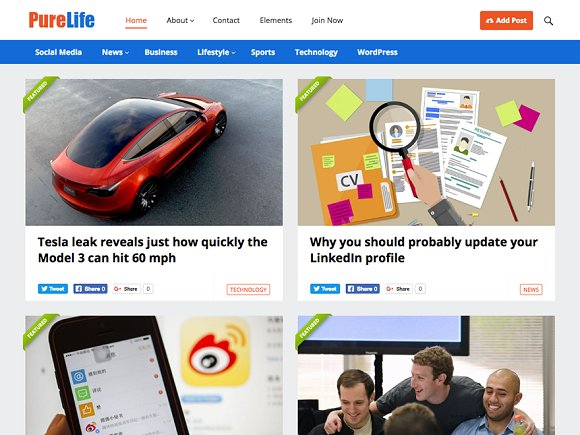 PureLife v1.5 - Blog Magazine Theme