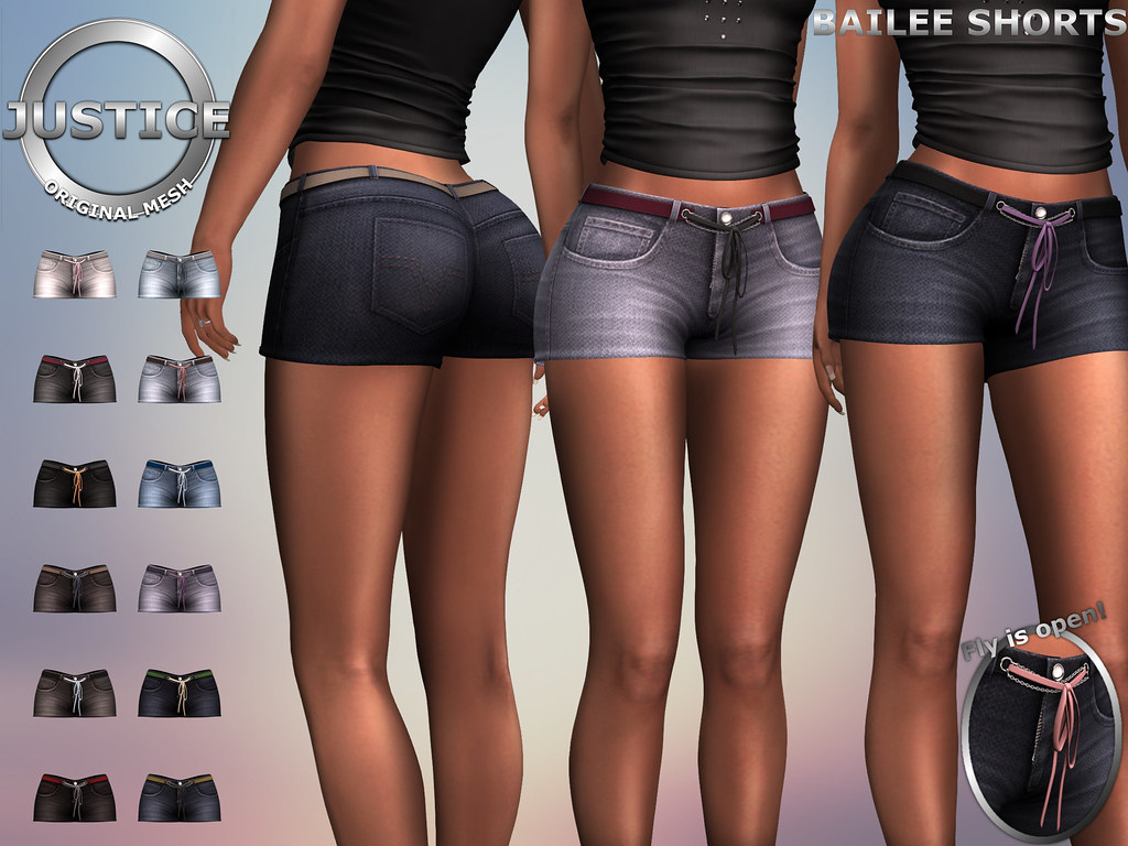 JUSTICE BAILEE SHORTS FATPACK PIC - SecondLifeHub.com