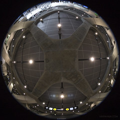 20170624. Placing the TTC's new York University Station ceiling inside a sphere.