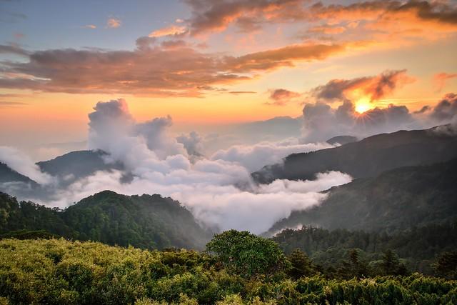 Sunset, Mountain Hehuan 合歡山夕陽雲海