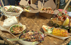 Selection of delicious street food