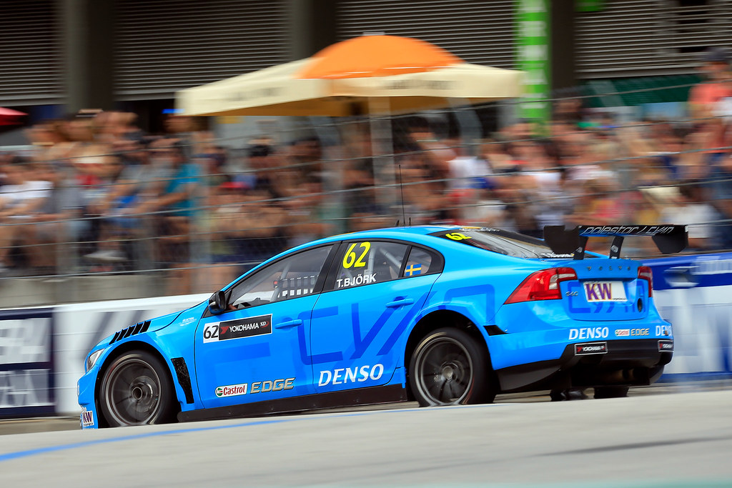 62 BJORK Thed (swe) Volvo S60 Polestar team Polestar Cyan Racing action during the 2017 FIA WTCC World Touring Car Championship race of Portugal, Vila Real from june 23 to 25 - Photo Paulo Maria / DPPI