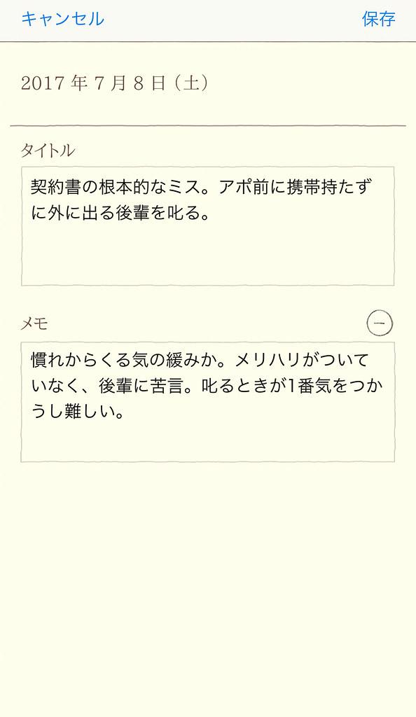 日記のもくじ タイトル記入