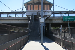 Lake Station headhouse from platform level