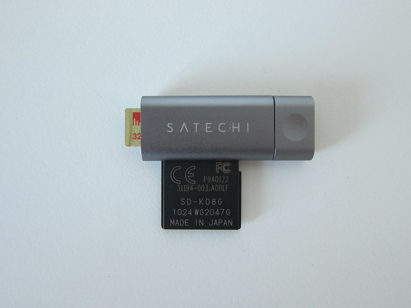 Satechi Aluminum USB-C Micro/SD Card Reader - With SD and MicroSD Card