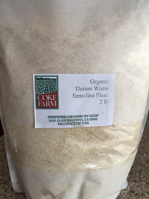 Organic Durum Wheat Semolina Flour