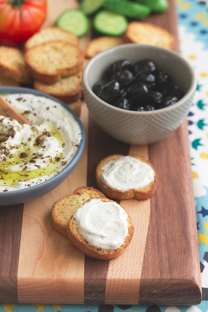 Toasts with Homemade Goat Labneh