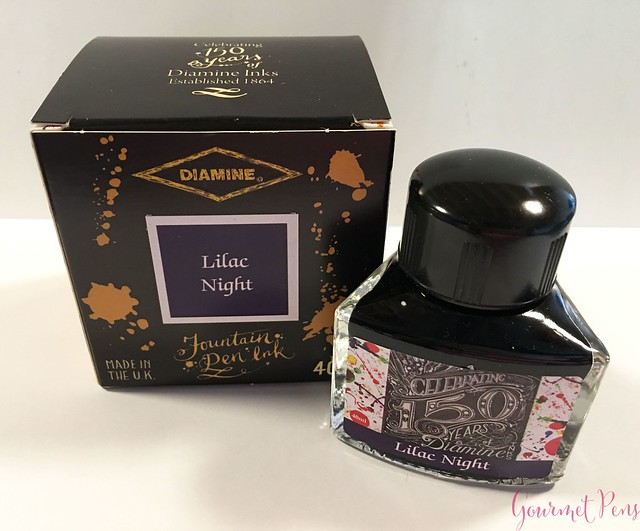 Ink Shot Review Diamine Anniversary Lilac Night @AppelboomLaren 1