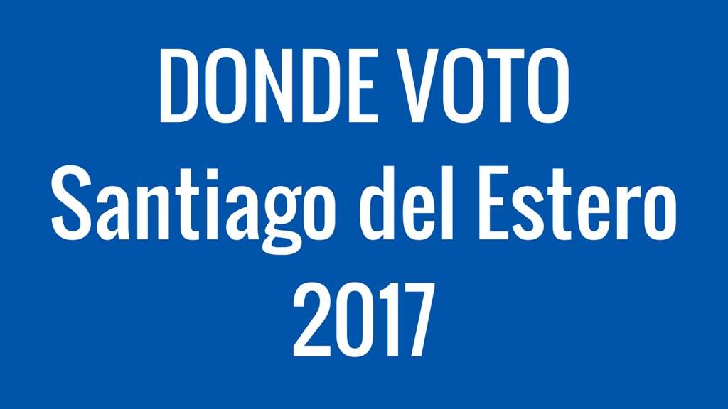 Donde Voto en Santiago del Estero