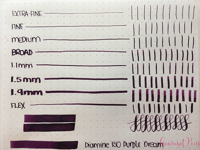 Ink Shot Review Diamine Anniversary Purple Dream @AppelboomLaren 3