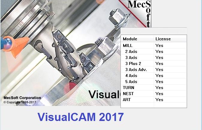 MecSoft VisualCADCAM 2017 v6.0.413