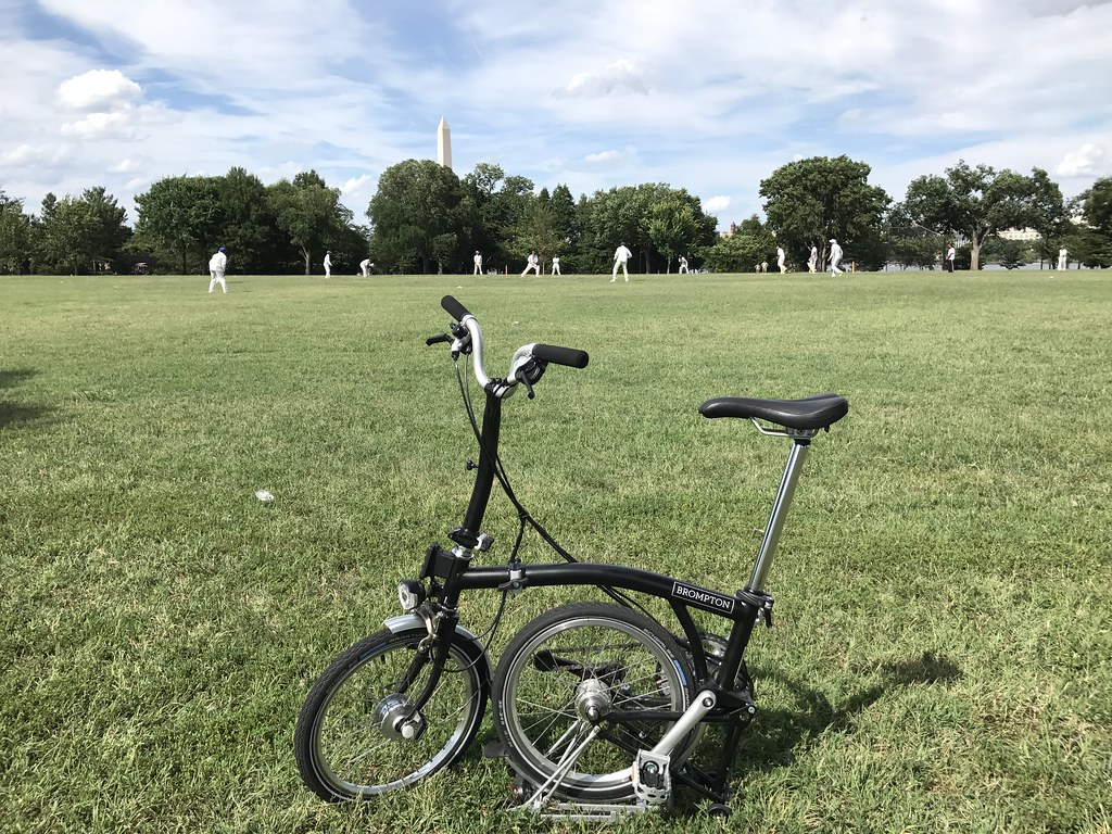 taking the Brompton to cricket, as one does in America