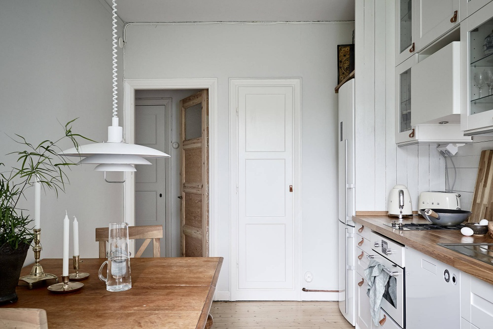 Simple Scandinavian Home with Wood Accents