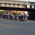 Rear view of motors leading the Mamaroneck, NY FD parade