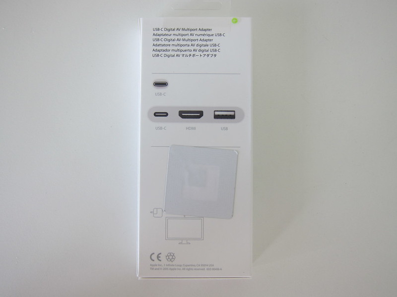 Apple USB-C Digital AV Multiport Adapter - Box Back