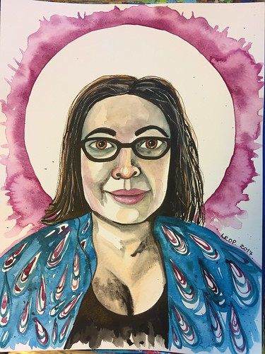 25 Loose Watercolour Ink Self-Portrait