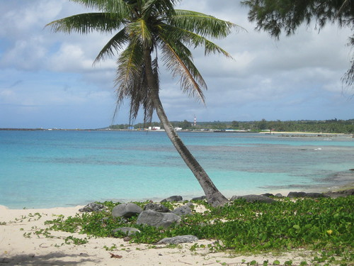 tinian mariana islands tropical landscape beach ocean kummerle