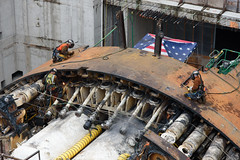 Making progress on Bertha disassembly
