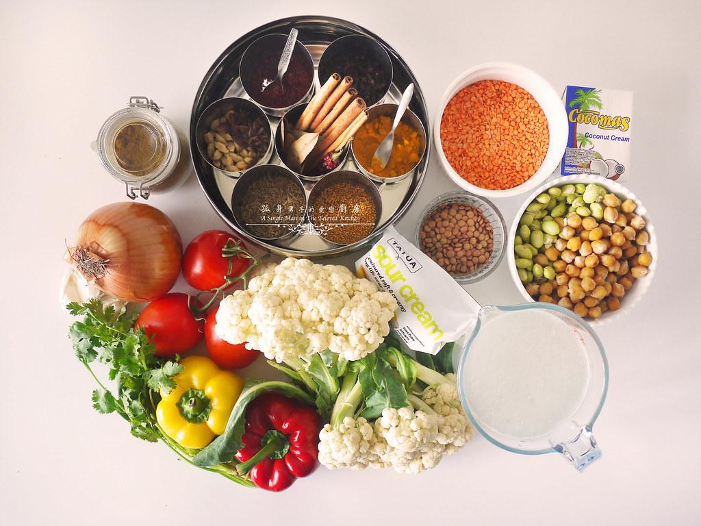 孤身廚房-Staub媽咪鍋煮超滿的印度蔬食花椰菜咖哩1