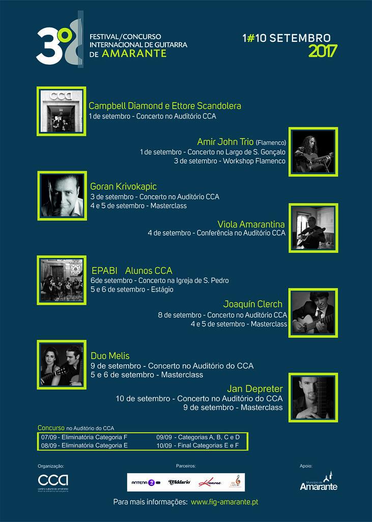 Cartaz com concertos