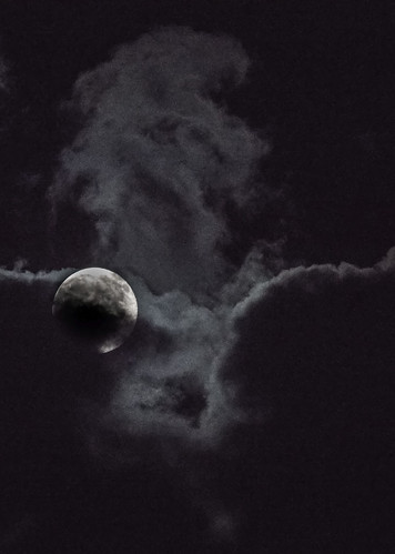 columbia maryland unitedstates moon clouds