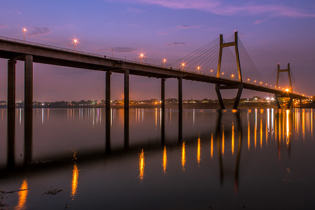 Beautiful 1510 metres..!  New Yamuna Bridge, Mutthi Ganj - Allahabad, Uttar Pradesh Canon 700D + Canon EF-S 18-55 mm f3.5-5.6 IS II DOP: 23/06/17 @07:34 PM