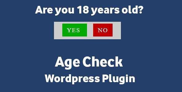 Age Check WordPress Plugin free download