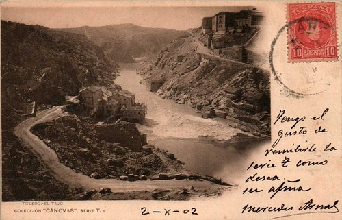 Torno del Tajo junto al Puente de Alcántara  hacia 1900. Fotografía de Antonio Cánovas del Castillo, Dalton Kaulak.