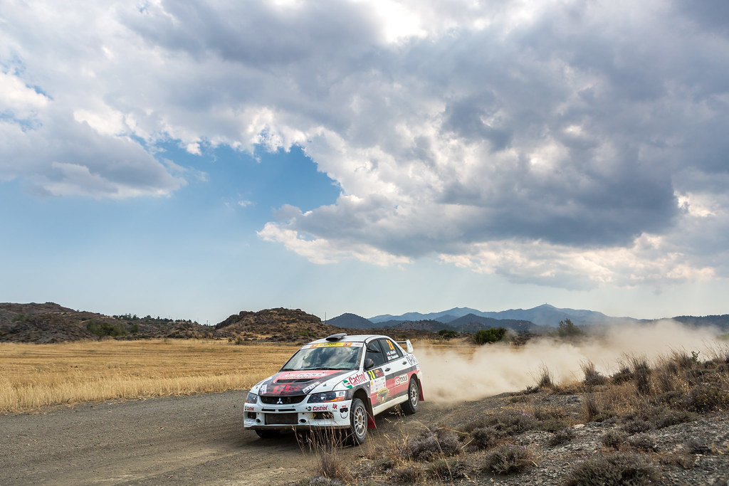 24 ALTHEFIRI Mshari (kwt) and THEOPHANIDES Nicholas (cyr) MSHARI ALTHEFIRI MITSUBISHI LANCER EVO IX action during the 2017 European Rally Championship ERC Cyprus Rally,  from june 16 to 18  at Nicosie, Cyprus - Photo Thomas Fenetre / DPPI
