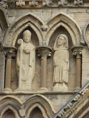 Peterborough Cathedral - Facade Statues