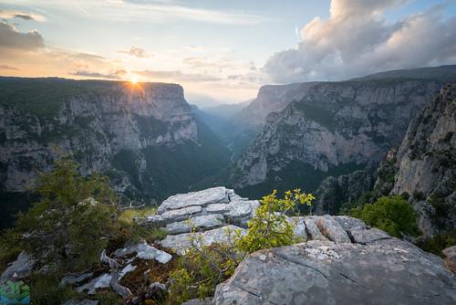 beloi epirus gorge greece mountain pindus sunset tymfi vikos vikosgorge vradeto zagori zagoria