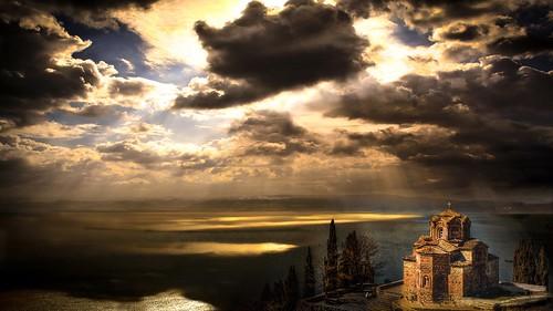 macedonia landscape sunlight lake ohridlake stjohna church ohrid shchukin nikond5200 nikon sigma