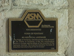 Photo of Forge of Fontenay black plaque