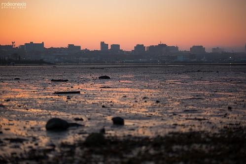 southportland saltflats cityskyline cityscape skyline eveningtime sunset dusk reflection ocean portlandharbor portlandmaine mainelife saltlife longlens sigma bokeh canon canonphotos landscapephotography mainephotography