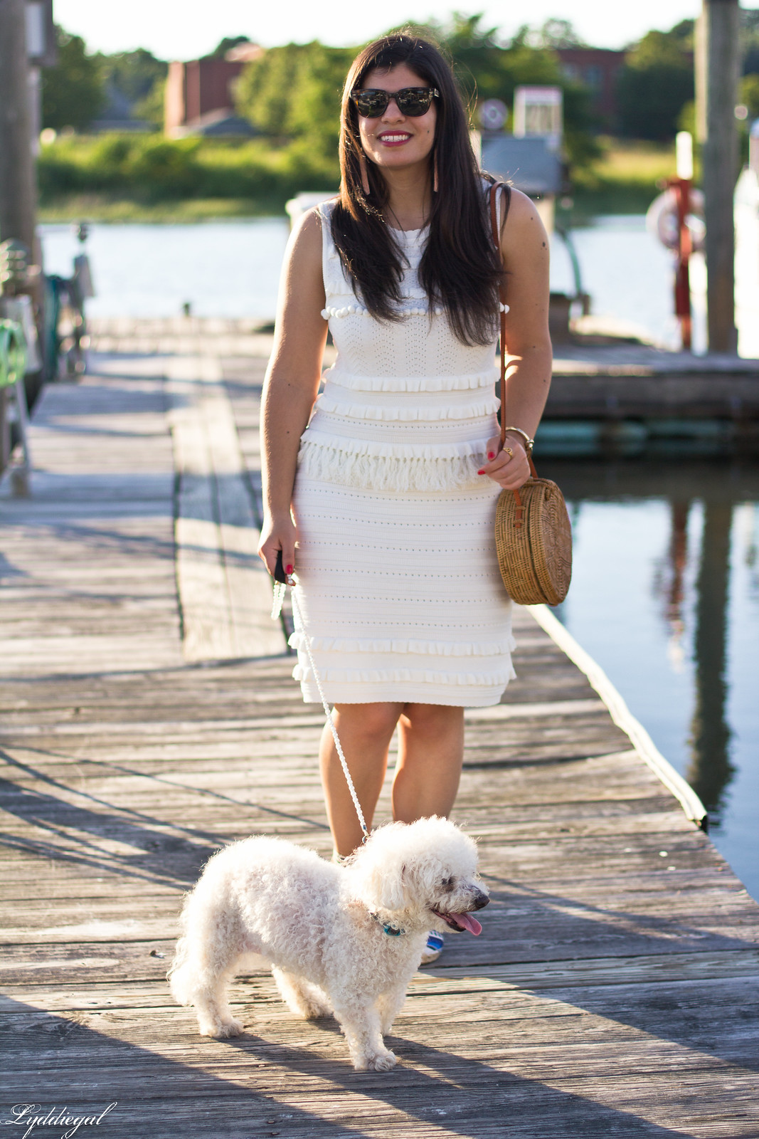 white knit dress, blue striped soludos, dog walking outfit-8.jpg