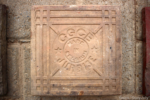 Marked CGCB Jurbise, Made in Belgium, this tile could be close to 100 years old.