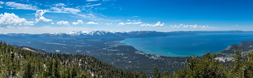 tahoe laketahoe southlaketahoe panoramic panorama mon ©mon canon canoneos sigma lake above ca trees forest mountain outdoor blue