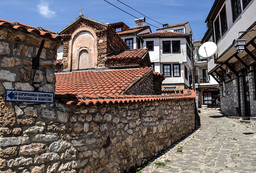 ohrid охрид fyrom macedonia македонија city downtown historic church orthodox temple house houses building buildings heritage perspective angle composition quiet peaceful quaint street streets travel traveling traveler travelling europe balkan world ancient old nikon nikond3100 d3100