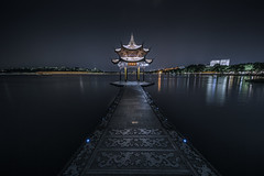 Long exposure of Jixian Pavilion on the West Lake  (Explore June 8, 2017)
