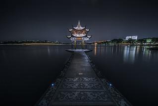 Long exposure of Jixian Pavilion on the West Lake  (Explore June 8, 2017) by HIKARU Pan