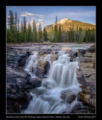 Athabasca Falls with Mt. Hardisty, Jasper National Park, Alberta, Canada
