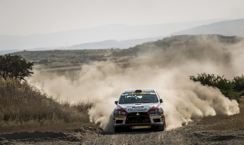 16 DENNER Deniz (cyp) and TOPCU Omer (cyp) DENIZ DENNER MITSUBISHI LANCER EVO X action during the 2017 European Rally Championship ERC Cyprus Rally,  from june 16 to 18  at Nicosie, Cyprus - Photo Gregory Lenormand / DPPI
