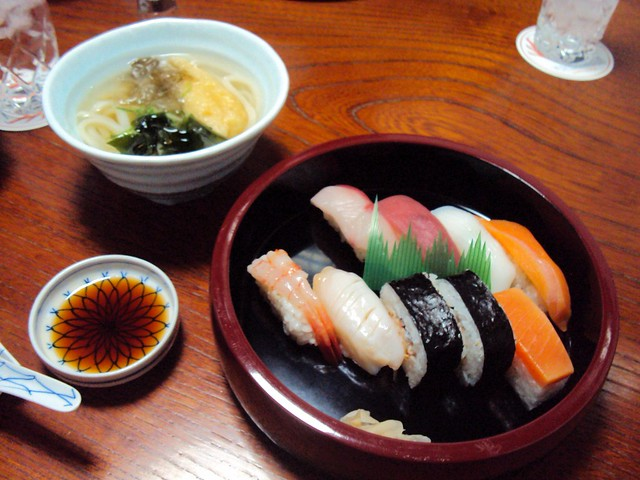 Our last meal with Galen, one of only a couple times I ate sushi in Hokkaido by bryandkeith on flickr