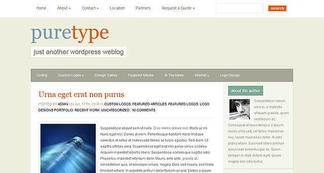PureType WordPress Theme free download