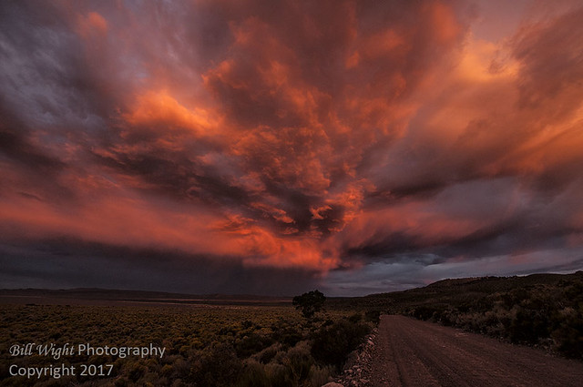 Angry Storm Clouds Over Mono Lake At Sunset