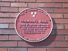 Photo of Hadrian's Wall red plaque